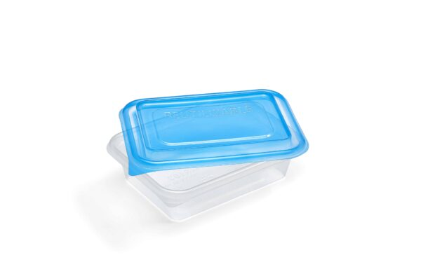 Bandeja reutilizable con tapa